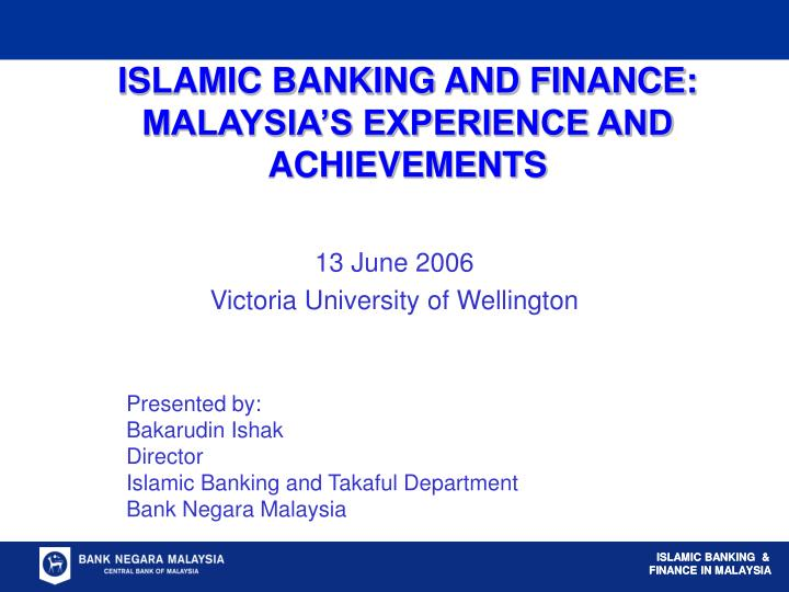 islamic banking and finance malaysia s experience and achievements n.
