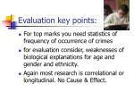 evaluation key points