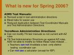 what is new for spring 20061