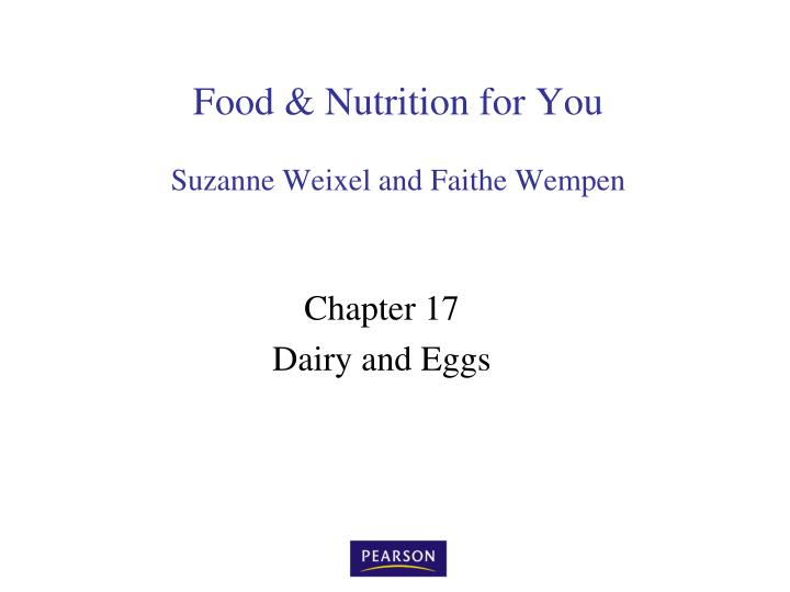 food nutrition for you suzanne weixel and faithe wempen n.