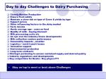 day to day challenges to dairy purchasing