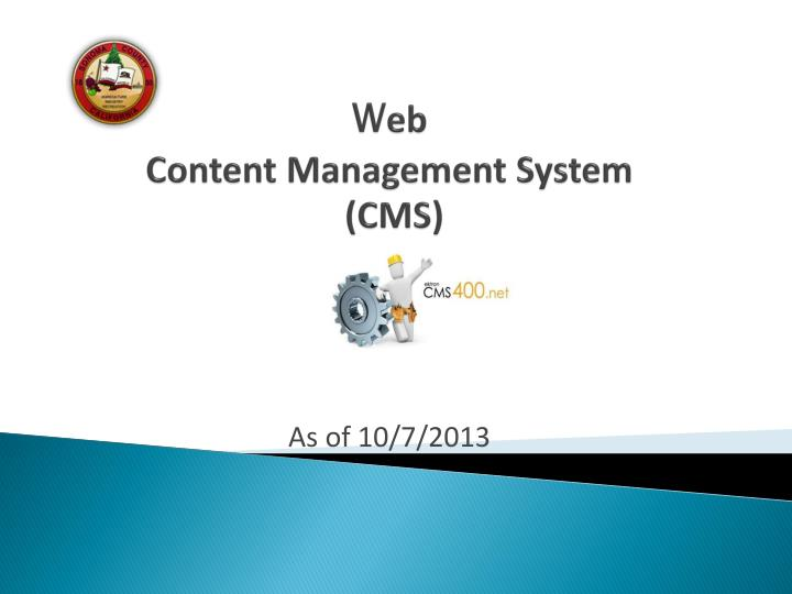 w eb content management system cms n.