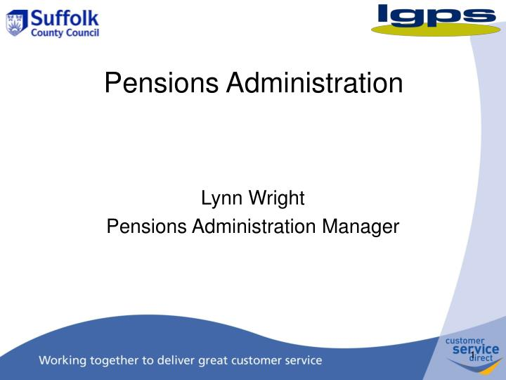 pensions administration n.