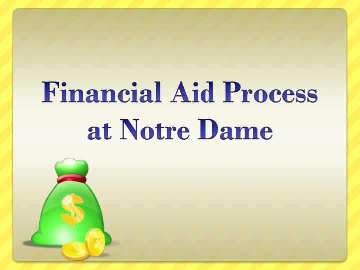 financial aid process at notre dame n.