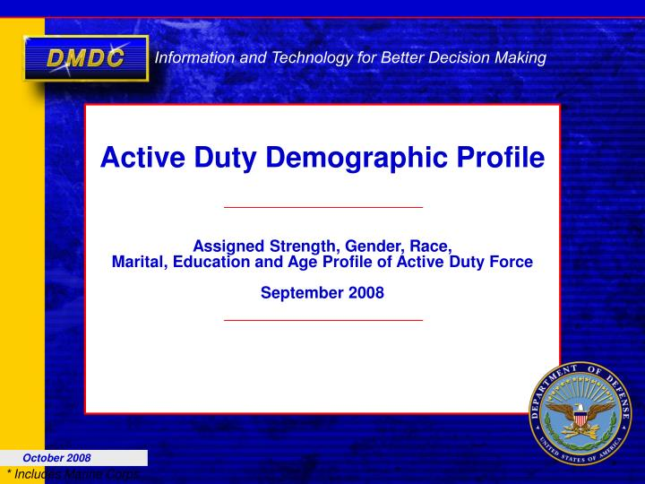 active duty demographic profile n.