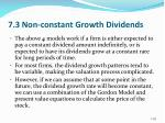 7 3 non constant growth dividends