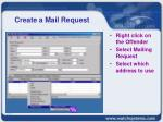 create a mail request