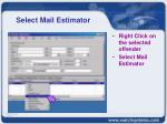 select mail estimator