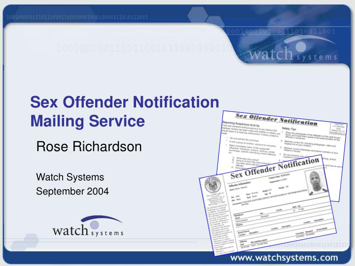 sex offender notification mailing service n.