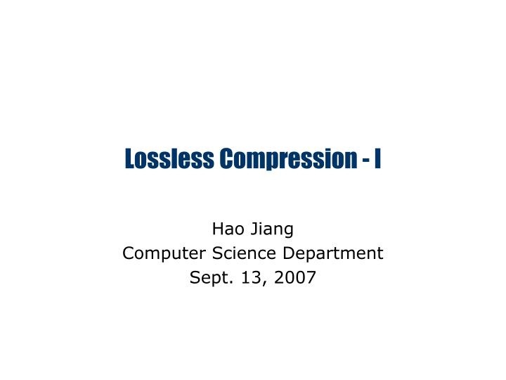 lossless compression i n.