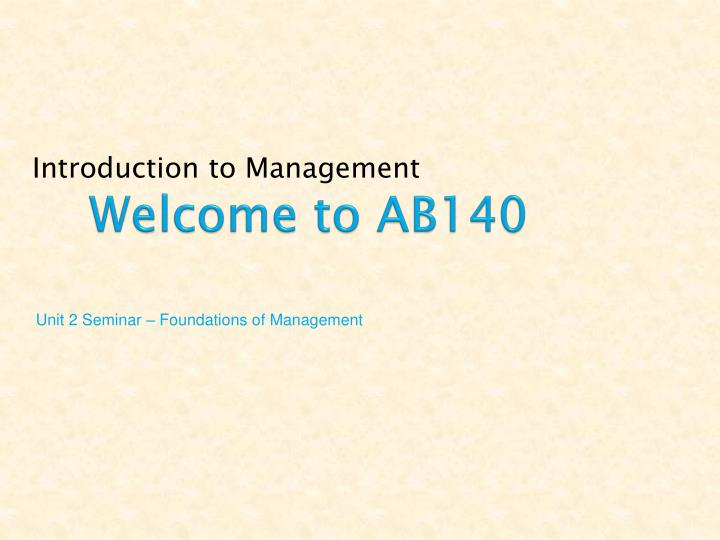 welcome to ab140 n.