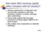 how does ski s working capital policy compare with its industry