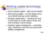 working capital terminology
