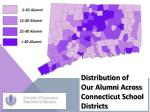 distribution of our alumni across connecticut school districts