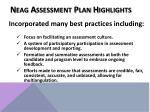 neag assessment plan highlights