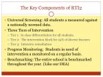the key components of rti2