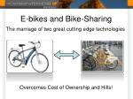 e bikes and bike sharing