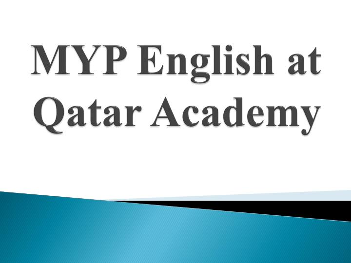myp english at qatar academy n.