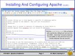 installing and configuring apache cont