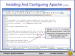 installing and configuring apache cont1