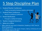 5 step discipline plan
