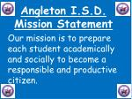 angleton i s d mission statement