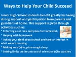 ways to help your child succeed