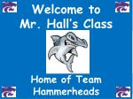 welcome to mr hall s class