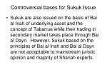 controversial bases for sukuk issue