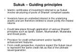 sukuk guiding principles