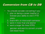 conversion from cb to db