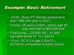 example basic retirement