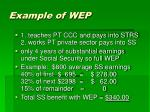 example of wep