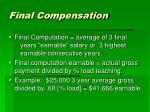 final compensation