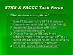 strs faccc task force