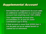 supplemental account