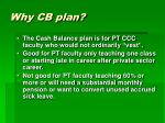 why cb plan