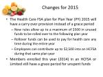 changes for 20152