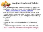 new open enrollment website
