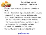 quest diagnostics preferred lab benefit
