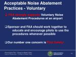 acceptable noise abatement practices voluntary