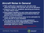 aircraft noise in general