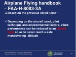 airplane flying handbook faa h 8083 3a3