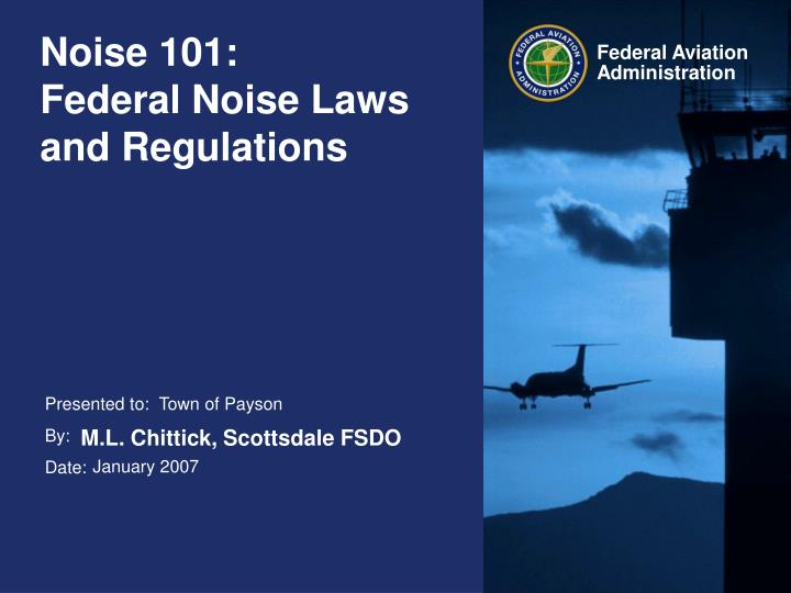 noise 101 federal noise laws and regulations n.
