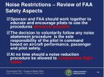 noise restrictions review of faa safety aspects1
