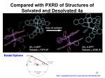 compared with pxrd of structures of solvated and desolvated 4a