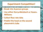 experiment competition