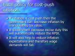 fiscal policy for cost push inflation