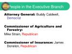 people in the executive branch