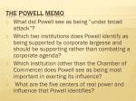 the powell memo